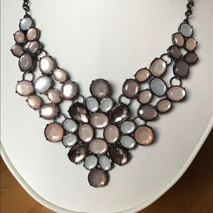 Multi-colored Gemstone Statement Necklace